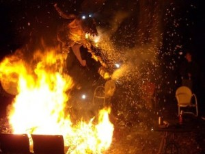 Possum Drop, and the combustion of the sacrificial possum