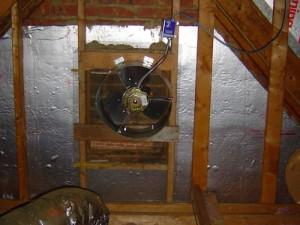 power attic ventilator fan gable vent