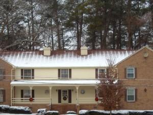 roof snow melt attic heat loss insulation air barrier