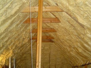 spray foam insulation roofline atmospheric combustion