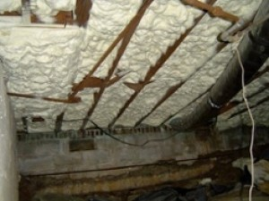Spray foam insulation is great for the building envelope.