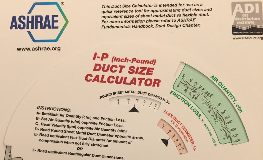 Friction rate can be used in a duct calculator to size ducts