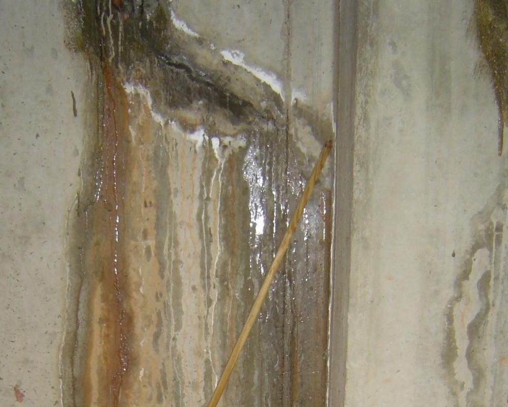 Leaking basement wall could use negative side waterproofing