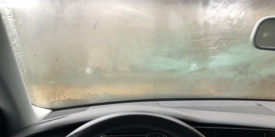 A fogged up car windshield is easier to clear if you apply psychrometrics