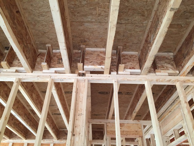 How Can You Air Seal These Joists Over The Garage