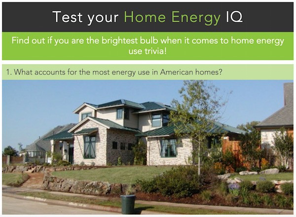 Home energy quiz from the US Dept. of Energy