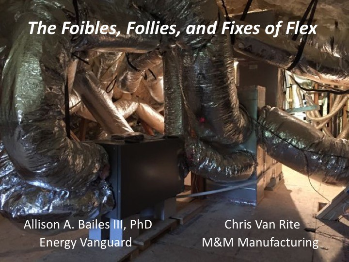 Flex duct presentation intro, 2017 Buildng Science Summer Camp