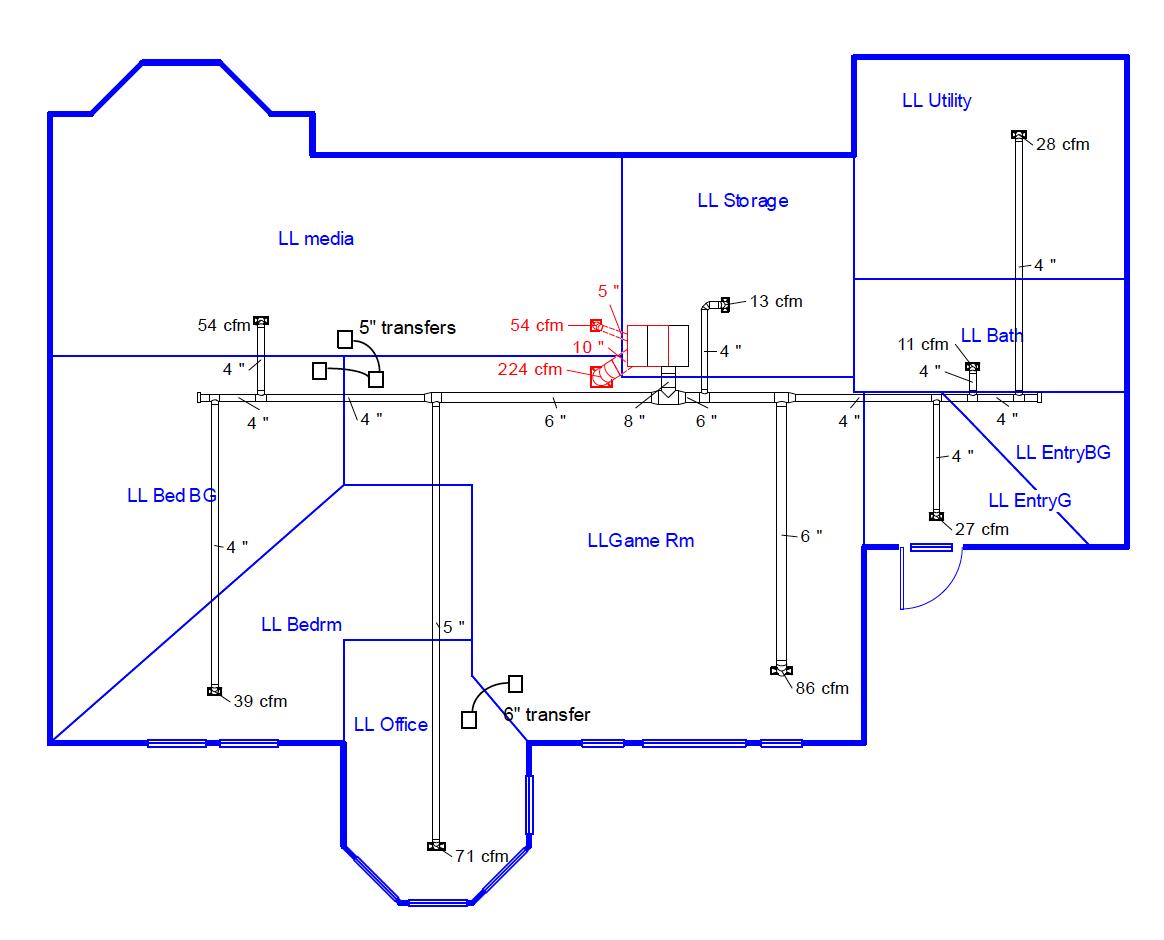 duct design 5 \u2014 sizing the ducts energy vanguard Ductwork Symbols