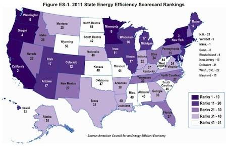 aceee state energy efficiency scorecard 2011 sml