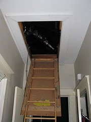 Attic pull-down stairs are a big hole in your building envelope.