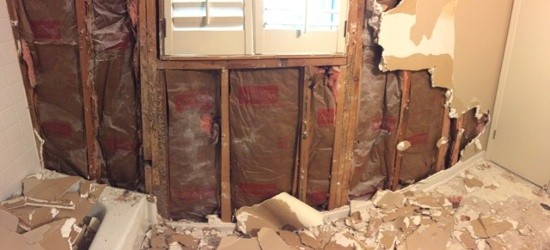 Bathroom Remodel Exterior Wall Insulation