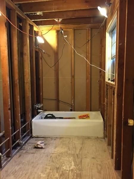 bathroom rebuild