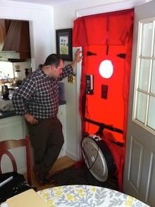 blower door hers rater field test jeff melvin air leakage