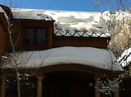 building enclosure ice dam icicle snow melt heat strip aspen