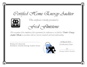 home energy auditor certification course certificate