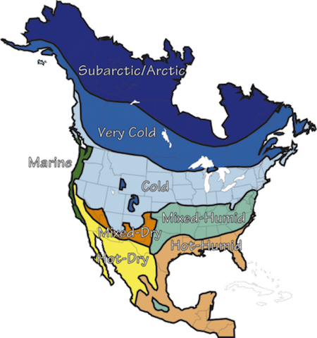 climate zone map north america building science corporation small