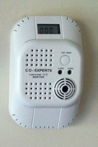 combustion safety carbon monoxide monitor CO experts not UL certified wall