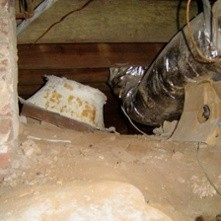 Beautiful Duct System In A Beautiful Crawl Space Was I