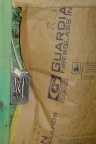 fiberglass batt insulation installation grade heat transfer building envelope electrical junction box 7 skinny