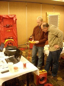 hers home energy rater training hands on pressure testing practice building science