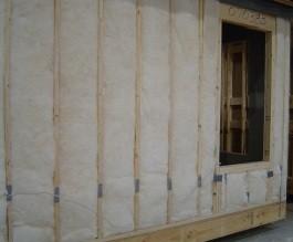 grade I fiberglass batt insulation, no compression, gaps, or incomplete fill