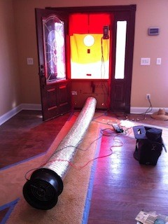 net zero energy home low infiltration test with duct blaster fan