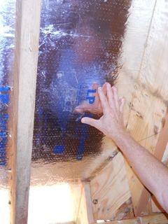radiant barrier techshield spray foam insulated roofline