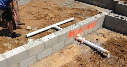 radon vent rough in new home nashville epa