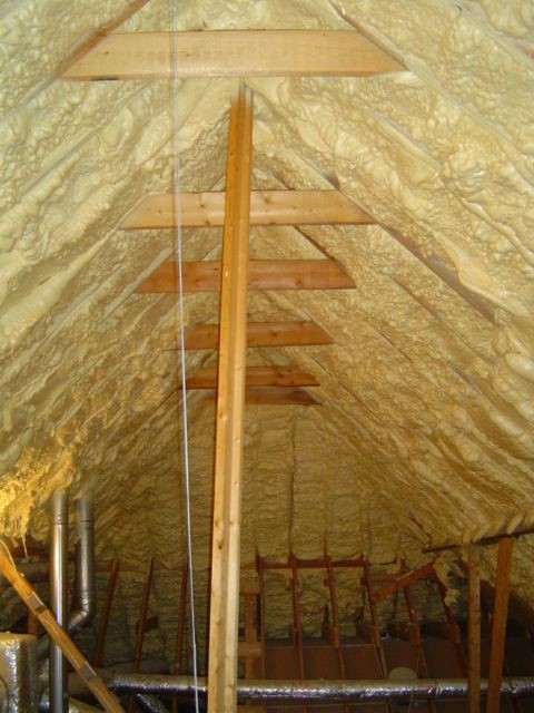 Using indoor air for combustion appliances in a spray foam insulated attic & The #1 Question to Ask before Putting Spray Foam in Your Attic