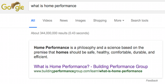 What Is Home Performance Part 1