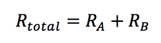 series heat flow r value addition equation