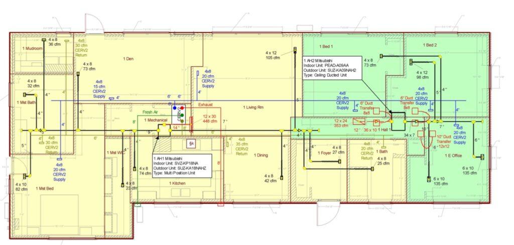 Sample HVAC Design Reports - Energy Vanguard | Hvac Drawing Sample |  | Energy Vanguard